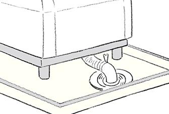洗濯機バンの排水トラップのゴミを取り除くには